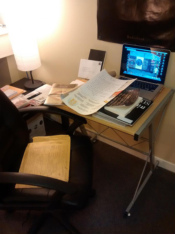 Kevin Hardcastle Writing Space