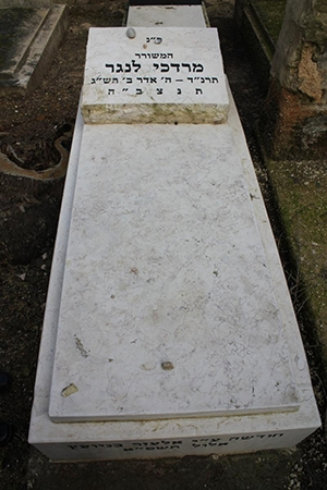 Langer's Grave: photo by Elana Wolff