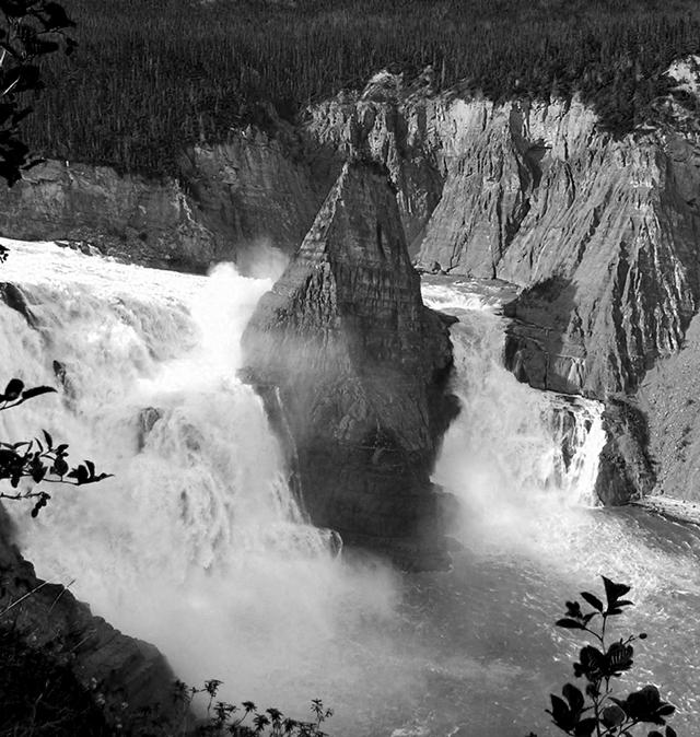 Virginia Falls is almost twice as high as Niagara Falls