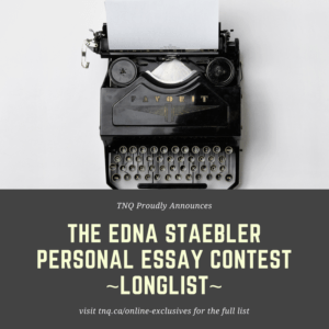 Edna Staebler Longlist Graphic