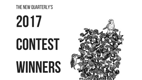 2017 Contest Winners with bird sitting on typewriter letters