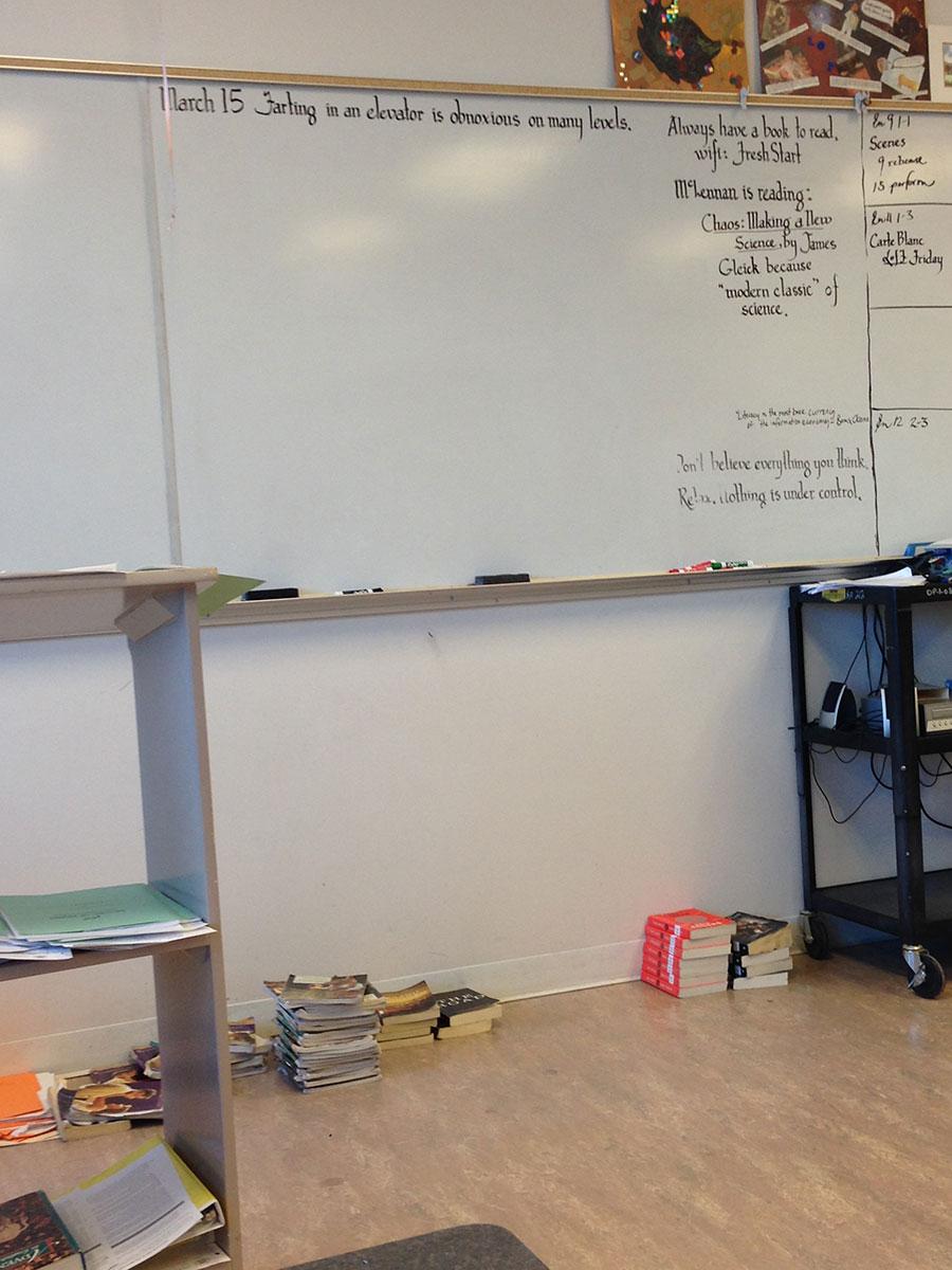 Isabella Wang Writing Space: Classroom