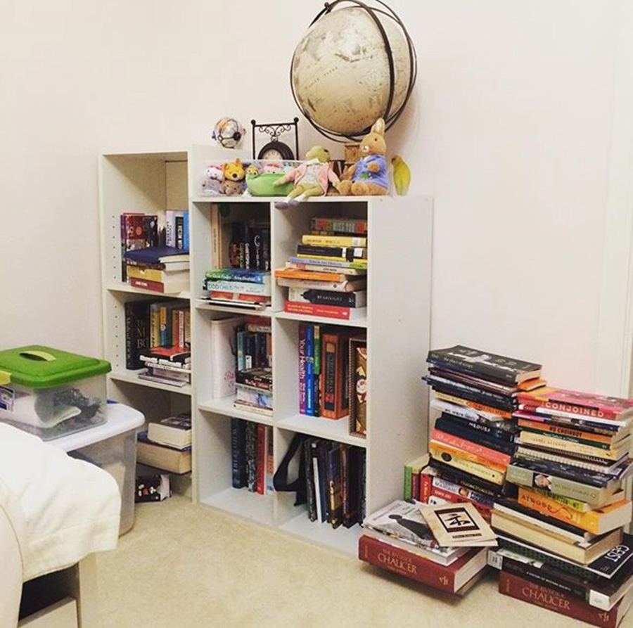Isabella Wang Writing Space: Bedroom Bookshelves