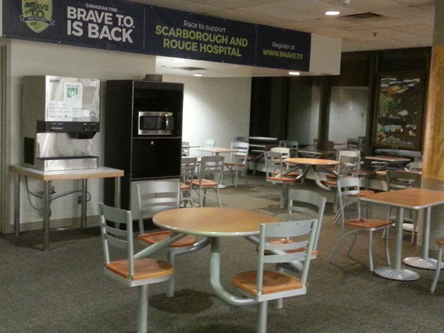 Tristan Marajh writing space: hospital food court