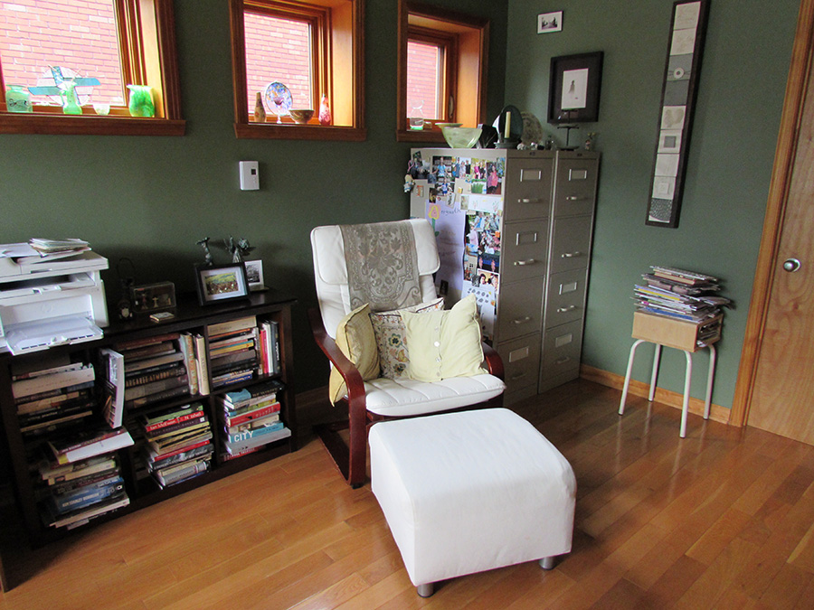 Stephanie Bolster Writing Space: Poang nursing chair