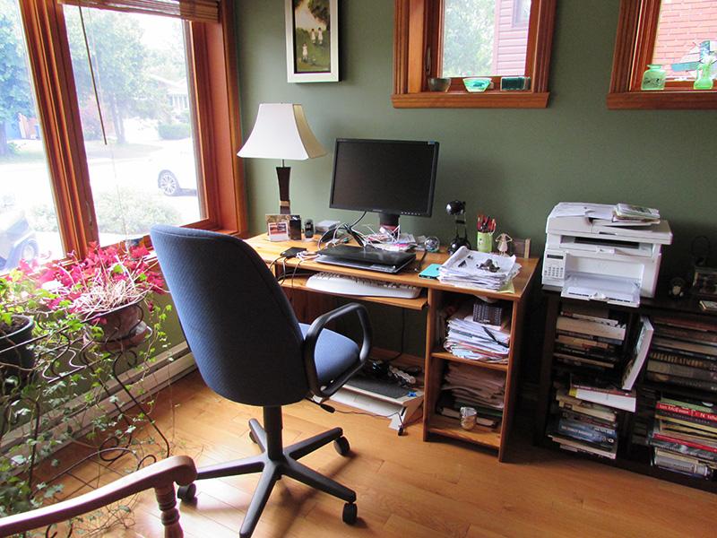 Stephanie Bolster Writing Space: Desk View