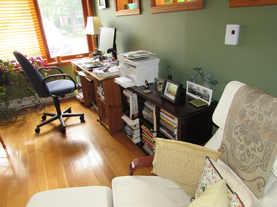 Stephanie Bolster Writing Space: Desk and Chair view