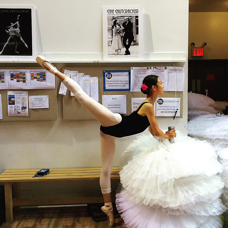 Isabella Wang in Ballet pose