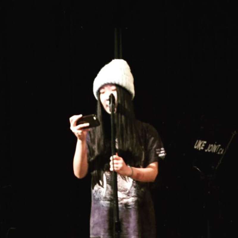 Isabella Wang takes the stage at her first Open Mic
