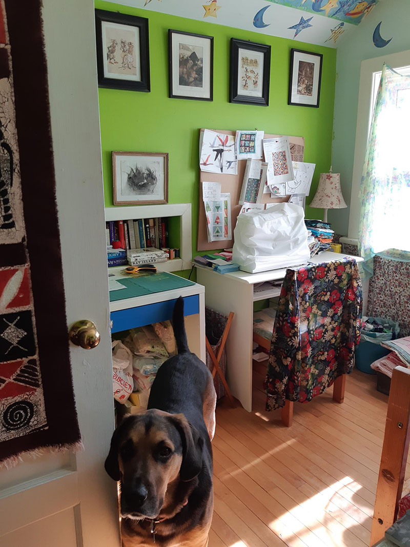 Catherine Austen Writing Space: sewing side