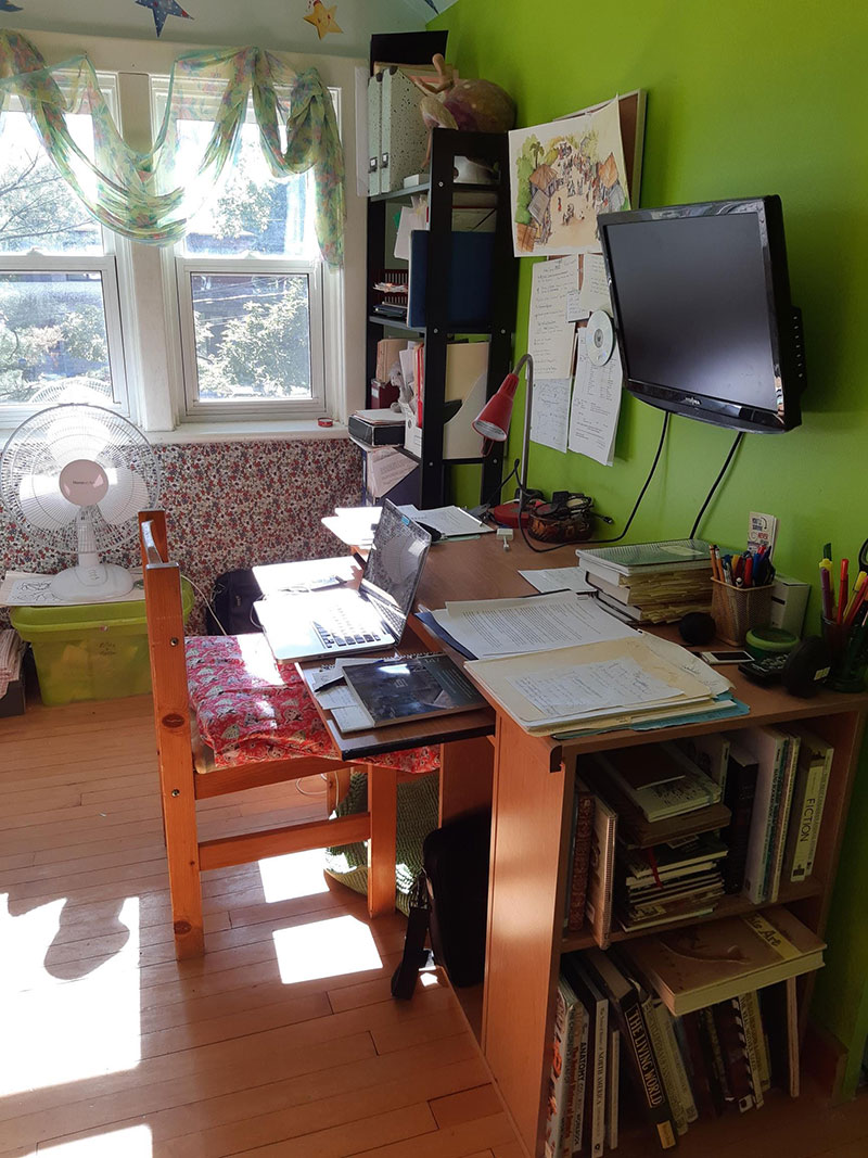 Catherine Austen Writing Space: the Writing Side